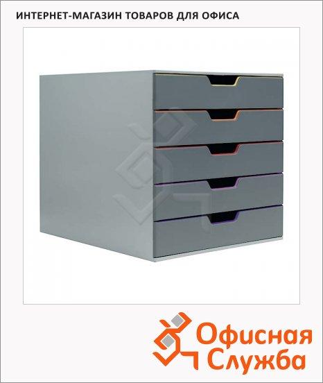 Бокс для бумаг Durable Varicolor 292x280x356мм, 5 ящиков, ассорти, 7605-27