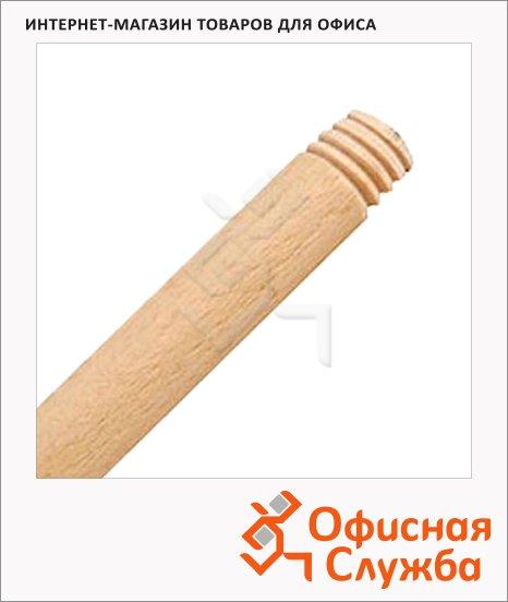 фото: Ручка 120см деревянная, с резьбой