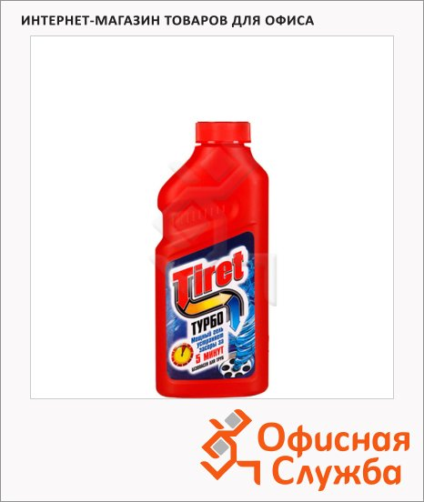 Средство для прочистки труб Tiret Турбо 0.5л, гель