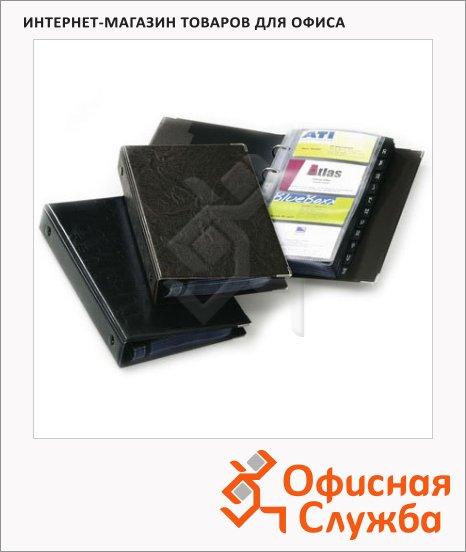 Визитница Durable PVC на 200 визиток, коричневая, ПВХ, 2383-11