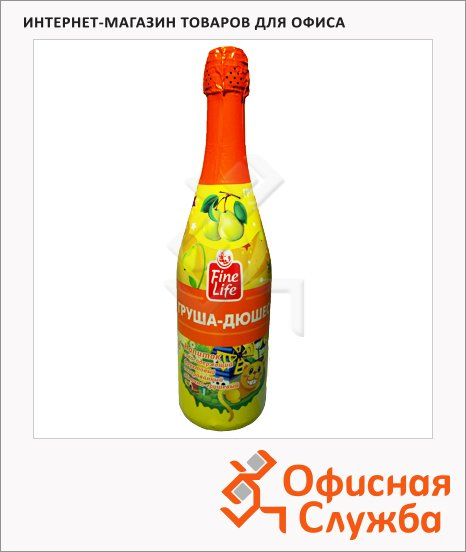 Детское шампанское Fine Life груша, 0.75л, стекло