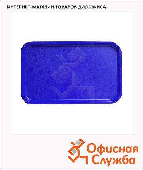 фото: Поднос прямоугольный темно-синий 53смх33см