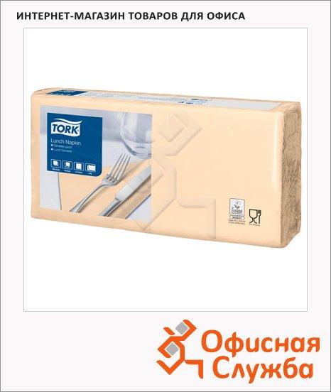Салфетки сервировочные Tork Advanced песочные, 33х33см, 2 слоя, 200шт, 477206