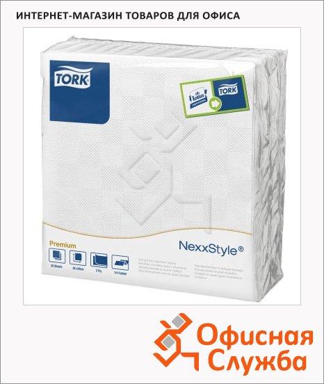 фото: Салфетки сервировочные Premium белые 39х38см, 2 слоя, 50шт