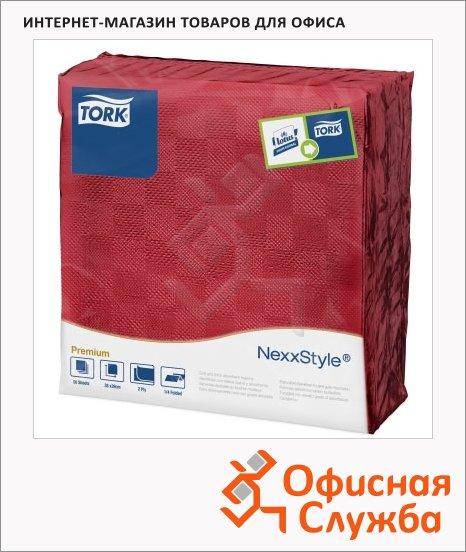 Салфетки сервировочные Tork Premium красные, 478789