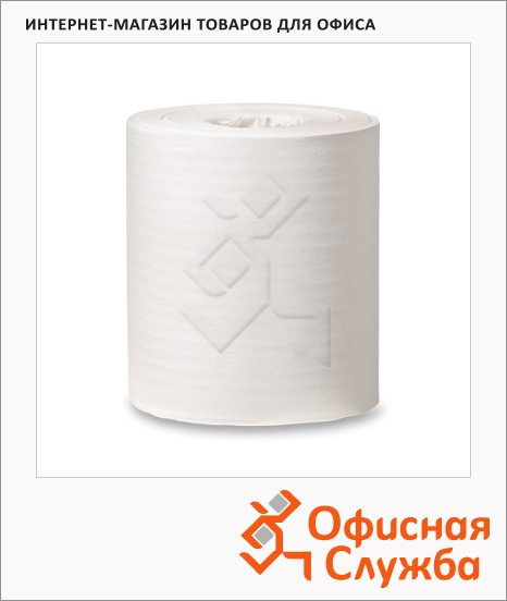 Протирочная бумага Tork базовая M2, 120166, в рулоне с центральной вытяжкой, 275м, 1 слой, белая