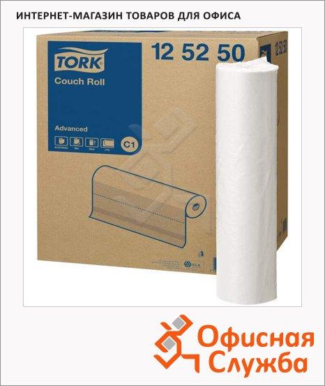 Бумажные простыни Tork Advanced C1, 125250, 50см х 50м, 132 листа, 2 слоя, белые