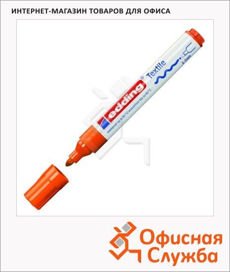 Маркер по ткани Edding 4500 неоновый оранжевый, 2-3мм, круглый наконечник, декоративный