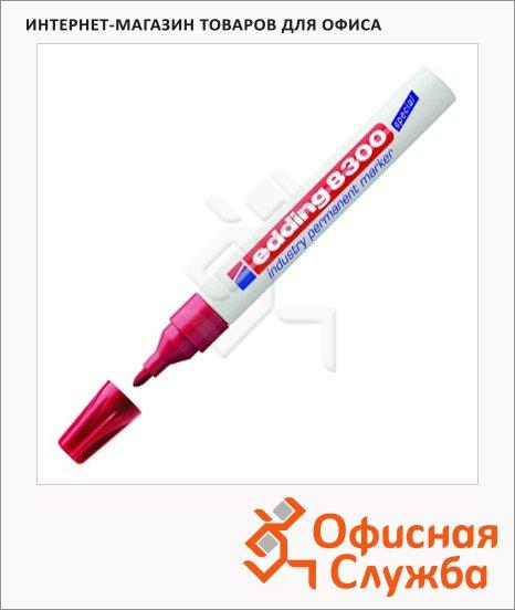 фото: Маркер промышленный перманентный Edding 8300 красный 1.5-3мм, пулевидный наконечник, для агрессивной среды, алюминиевый корпус