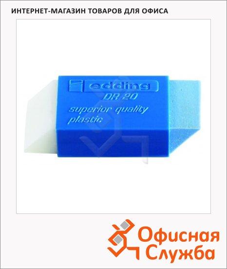фото: Ластик Edding DR20 бело-голубой для карандаша и ручки