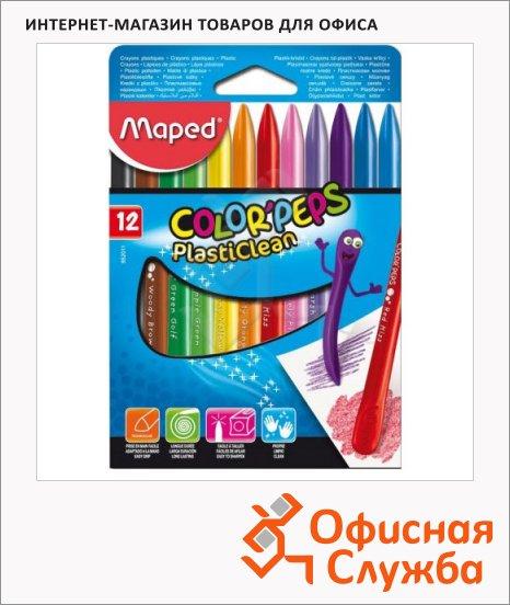 фото: Набор мелков Maped Color'Peps Plasticlean 12 цветов пластиковые
