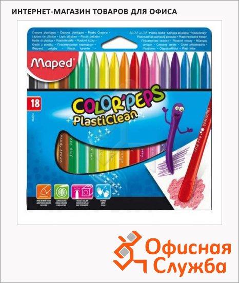 фото: Набор мелков Maped Color'Peps Plasticlean 18 цветов пластиковые