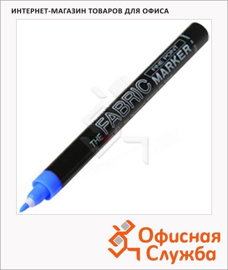 Маркер по ткани Marvy М522 синий, 1мм, декоративный, для светлых тканей