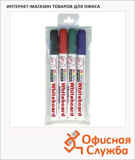 фото: Маркер для досок 7500B набор 4 цвета 1.5-3мм, круглый наконечник