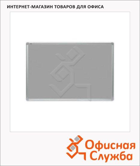 Доска текстильная 2x3 TTA 96BL 90х60см, серая, алюминиевая рама