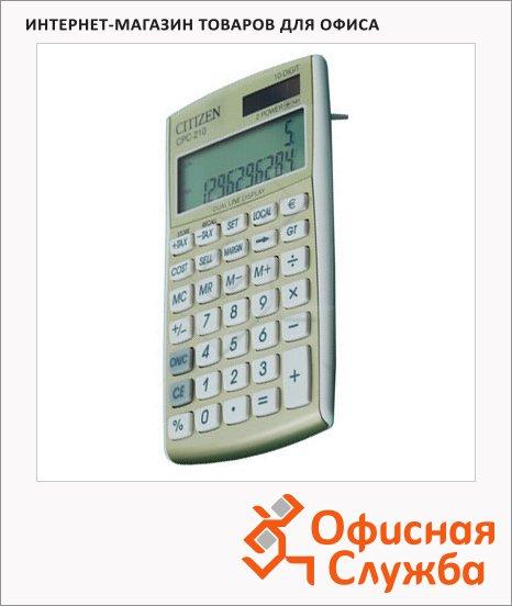 Калькулятор карманный Citizen CPC 210 золотистый, 10 разрядов
