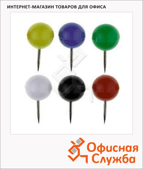 Булавки канцелярские Alco 10/20мм, ассорти, 20 шт/уп