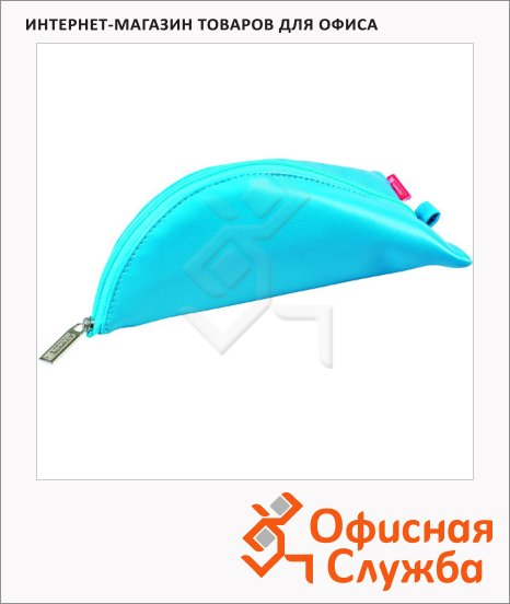 Пенал для девочек Brunnen голубой, мягкий