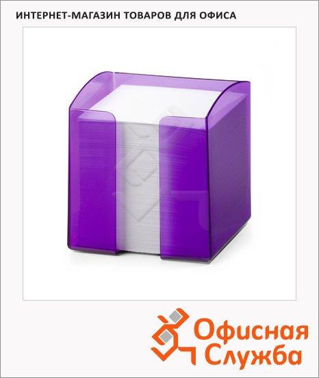 Блок для записей в подставке Durable Trend белый, 10х10.5х10см, фиолетовый