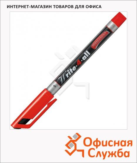 фото: Маркер перманентный Stabilo Write-4-All красный 0.4мм, круглый наконечник