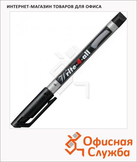 Маркер перманентный Stabilo Write-4-All черный, 0.4мм, круглый наконечник