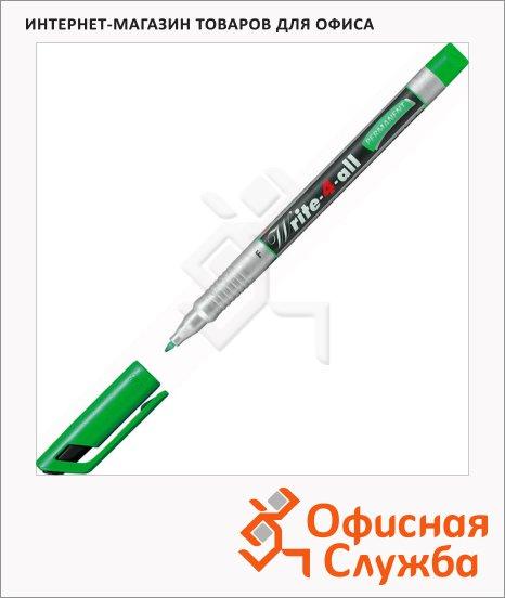 Маркер перманентный Stabilo Write-4-All зеленый, 0.7мм, круглый наконечник