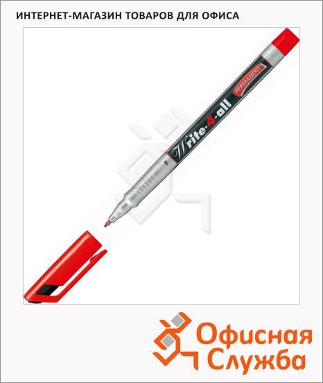 Маркер перманентный Stabilo Write-4-All красный, 0.7мм, круглый наконечник