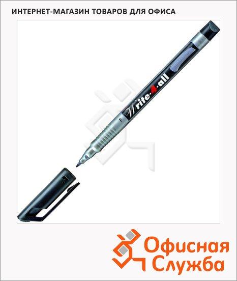 фото: Маркер перманентный Stabilo Write-4-All черный 0.7мм, круглый наконечник