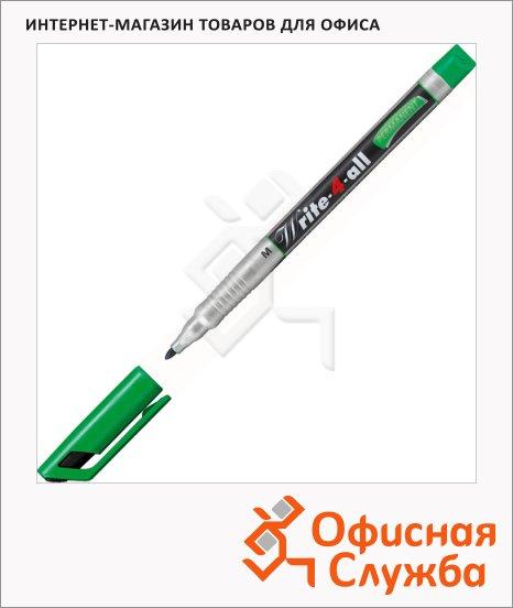Маркер перманентный Stabilo Write-4-All зеленый, 1 мм, круглый наконечник
