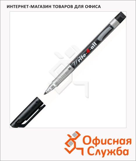 Маркер перманентный Stabilo Write-4-All черный, 1 мм, круглый наконечник