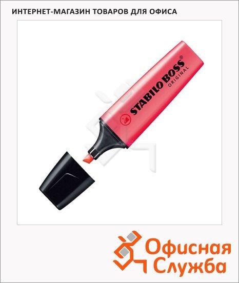 Текстовыделитель Stabilo Boss Original красный, 2-5мм, скошенный наконечник