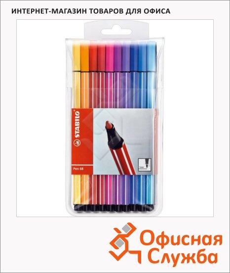 Фломастеры профессиональные Stabilo Pen 68 20 цветов, 1мм
