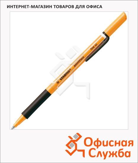 Ручка-роллер автоматическая Stabilo pointVisco черная, 0.5мм