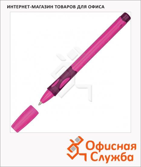 фото: Ручка шариковая Stabilo LeftRight 6328 синяя 0.4мм, розовый корпус