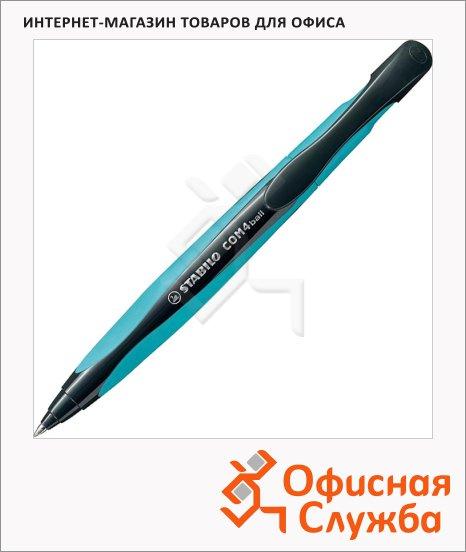 фото: Ручка шариковая автоматическая Stabilo COM4ball 1040 синяя 0.5мм, сине-черный корпус