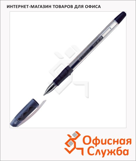 Ручка гелевая Stabilo color gel 208 E черная, 0.5мм