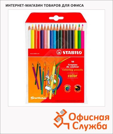 фото: Набор цветных карандашей Stabilo Color 121 18 цветов