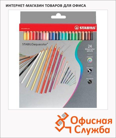 фото: Набор акварельных карандашей Stabilo Aquacolor 24 цвета 1624/77-03