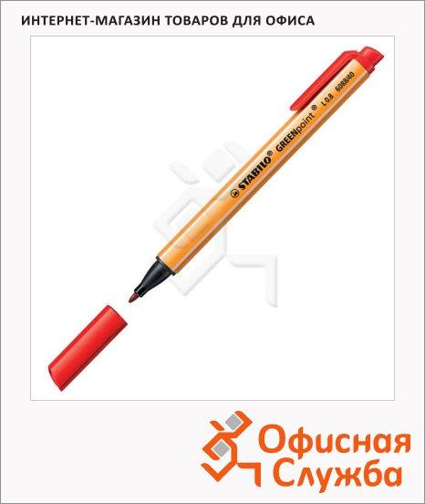 Линер Stabilo GreenPoint красный, 0.8мм, 207726 / 6088/40