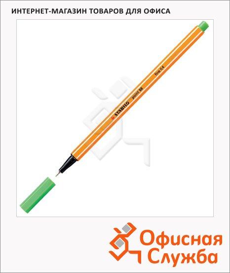 Ручка капиллярная Stabilo Point зеленая, 0.4мм