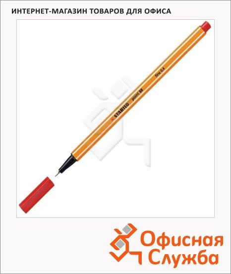 Ручка капиллярная Stabilo Point красная, 0.4мм