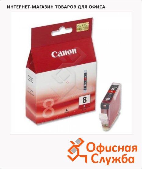 Картридж струйный Canon CLI-8R, красный, (0626B001)
