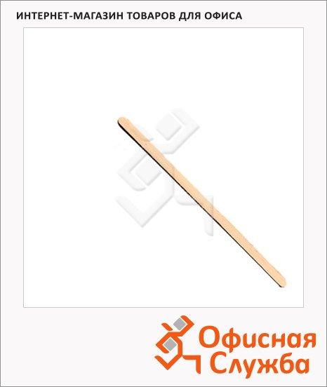 Палочка одноразовая Popstar для размешивания 14см, деревянная, 1000шт/уп