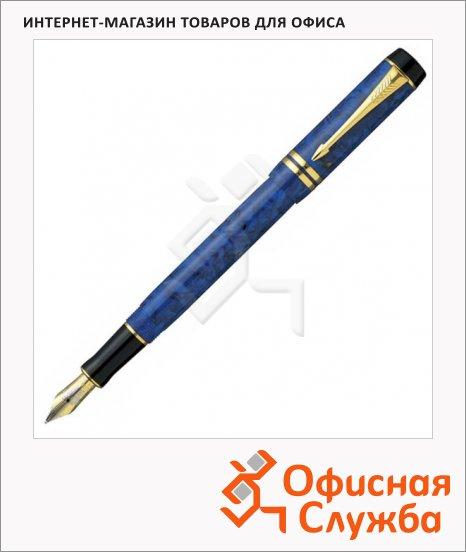 Ручка перьевая Parker Duofold F74 Centennial F, синий корпус