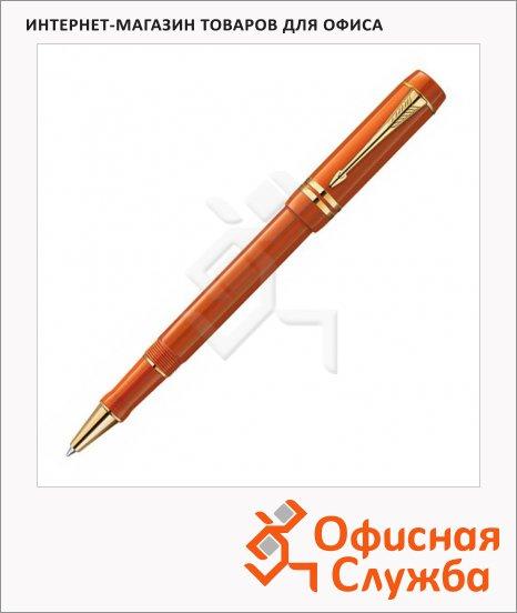 Ручка-роллер Parker Duofold T74 F, синяя, красный корпус