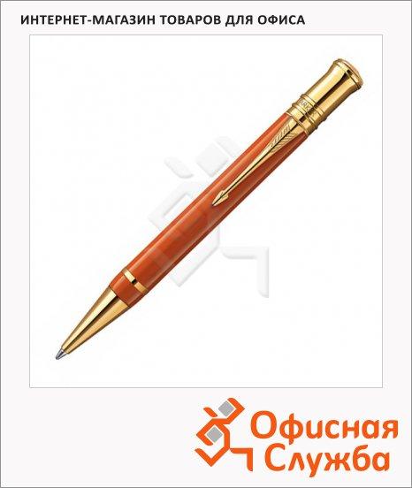 Ручка шариковая Parker Duofold K74 М, черная, красный корпус