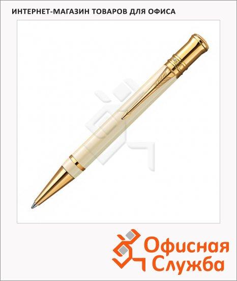Ручка шариковая Parker Duofold K74 М, черная, бежевый корпус