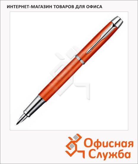 Ручка перьевая Parker IM Premium Historical colors F225 F, черная, красный корпус