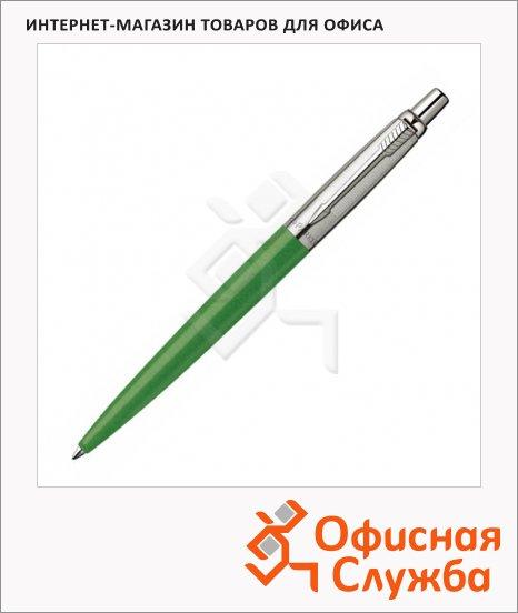 Ручка шариковая Parker М, синяя, зеленый корпус