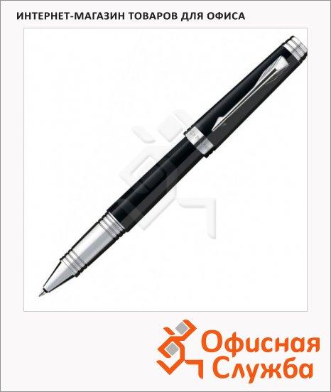 фото: Ручка-роллер Parker Premier Lacque T560 F черный/серебристый корпус, S0887870